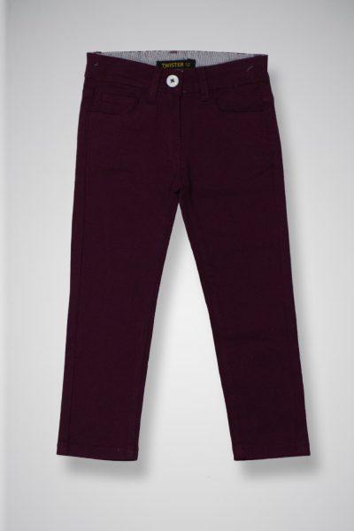 Kids' Twill Casual Pants TWIST-2-10-20-8