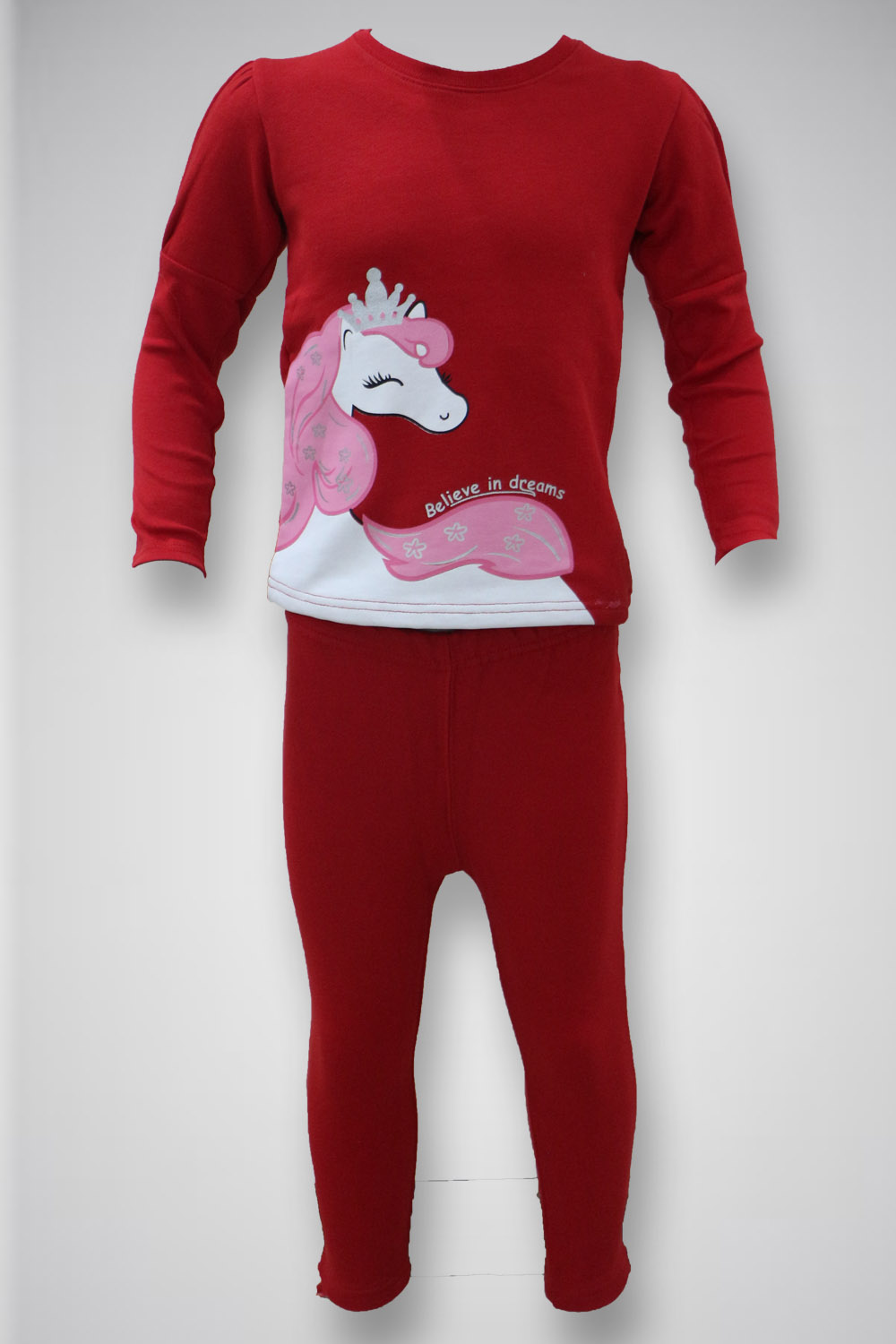 Girl's Track Suit Red