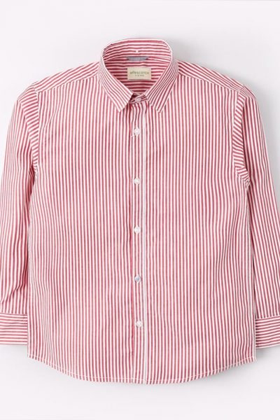 Thin Striped Red Lines Shirt 1612